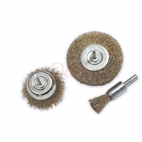 3pcs Brush Kit, 16mm flare, 50mm cup & 65 mm wheel